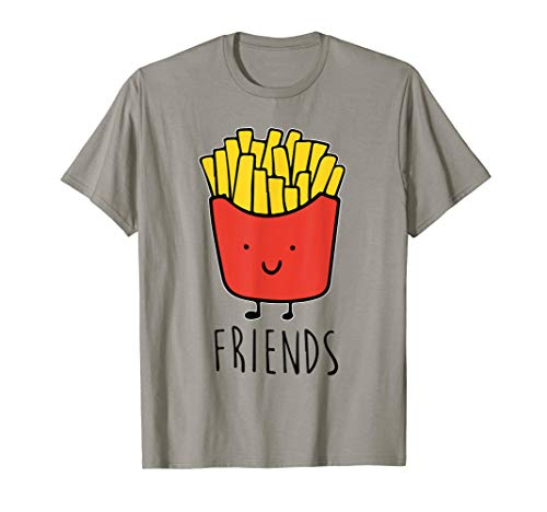 Pommes Frites ist best friend Shirt Frauen Herren Kinder Kartoffel Tees