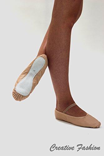 Ballettschläppchen Ganze Sohle Leder Kostov Sportswear; Gr. 33 (UK 1,5)