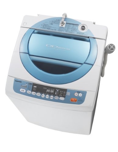 【チャイルドロック】TOSHIBA 7.0kg 節水なのにパワフル洗浄 抗菌水 DDインバーター 全自動洗濯機 シャイニーブルー AW-70DK(WL)