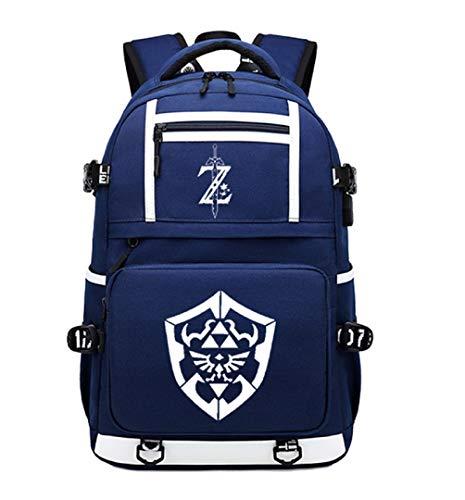 GO2COSY Leuchtender Rucksack The Legend of Zelda, Tagesrucksack, Schulranzen, Büchertasche, Blau 2 (Blau) - GO2COSY1