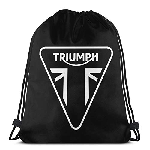 JIAMEIMEI Triumph Motorcycle Sacca Sportiva Zaino con coulisse Borsa da palestra leggera Sackpack per sport da spiaggia Yoga da viaggio in palestra Drawstring Bag