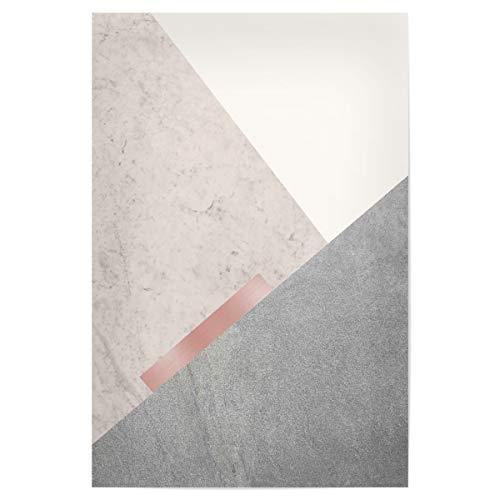 "artboxONE Poster 30x20 cm Abstrakt Scandi Minimalist in Pink 02"" - Bild Geometric Blush pink Blush pink"