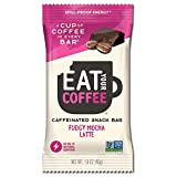 Caffeinated Snack and Energy Bar, Best Seller, Equal to 1 Cup of Coffee or 80mg Natural Caffeine, Fudgy Mocha Latte Flavor 12 Count | Delicious Caffeine Chocolate Vegan Energy Bar, Caffeine Chocolate