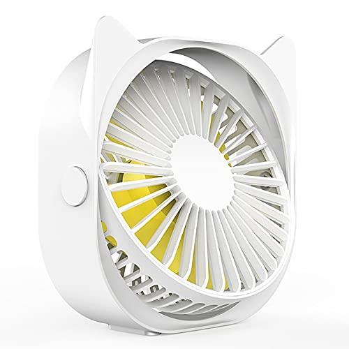 F&FSH Ventilador USB Portátil, Ventilador De Mesa Personal Pequeño Giratorio De 360 ° Silencioso De 3 Velocidades Mini Ventilador De Mesa Extraíble Adecuado para Estudio Trabajo Sueño