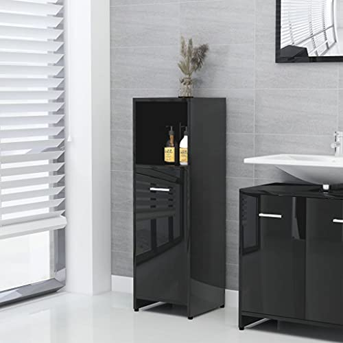 mobiletto bagno nero lucido Mobiletto del bagno