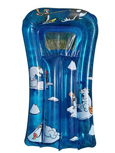 Happy People Arctic - Materasso ad aria per piscina e mare, 67 x 43 cm, orso polare e pinguino