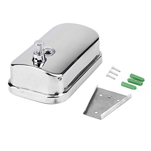 500/800 / 1000ML Keuken Badkamer Wandmontage RVS Shampoo Dispenser Zilver 500ml