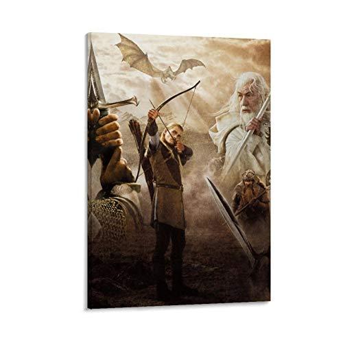 DRAGON VINES Póster de la trilogía del Señor de los Anillos de Gandalf Aragón Legolas de dibujos animados 40 x 60 cm