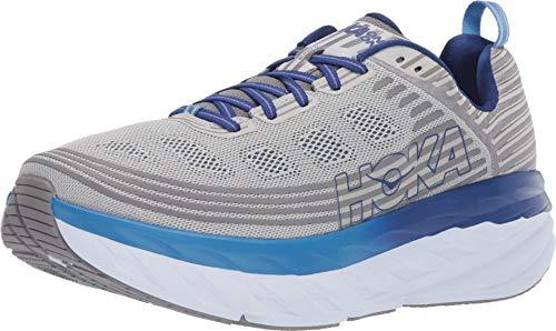 HOKA ONE ONE Mens Bondi 6 Blue/Frost Gray Running Shoe - 10.5