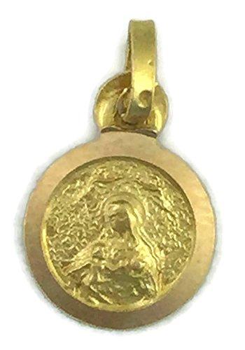 Medalla de Oro de 18 Klts de Bebé J. Luis J.L-MED-009 (Virgen de la Cinta)