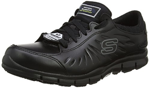 Skechers Women's Eldred Safety Shoes, Black (Blk), 4 UK 37 EU