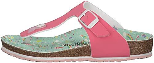 BIRKENSTOCK Gizeh Kids BF Mädchen,Kinder,Zehentrenner,Synthetik,buntes Fußbett,Sandale,strapazierfähig,hautfreundlich,Candy Pastel Pink,38 EU
