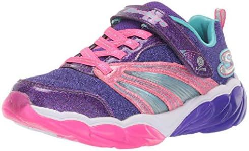 Skechers Kids Girl s Fusion Flash Sneaker Purple neon Pink 11 Medium US Little Kid product image