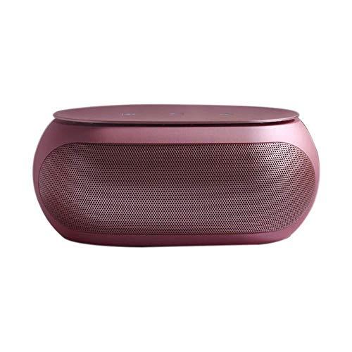 KK Zachary GYHH Drahtloser Bluetooth Lautsprecher Smart Touch Tragbarer Subwoofer Bluetooth Spalte HiFi Sound System Musik Surround-Breitband-Lautsprecher (Farbe : Pink)