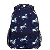 Oarencol olografico magico unicorno stella verde capelli cavallo zaino zaino zaino zaino zaino scuola scuola università borsa per uomo donna