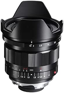 Voigtlander 21mm f/1.8 Ultron Manual Focus Aspherical Lens for M Mount Cameras, with Built-in Lens Hood