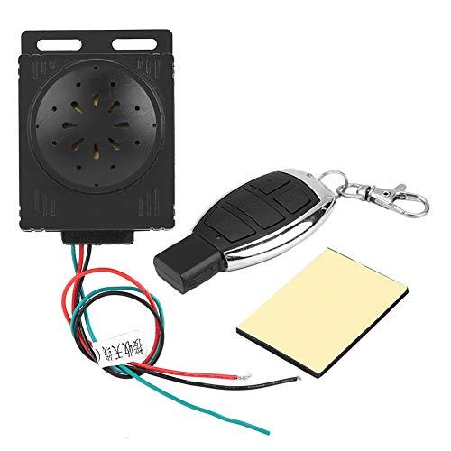 KIMISS Universal Motorrad Alarmanlage, 9-16 V Motorrad Alarm Diebstahlsicherung für Motorrad mit Fernbedienung Alarmanlage Kit Anti-Hijacking