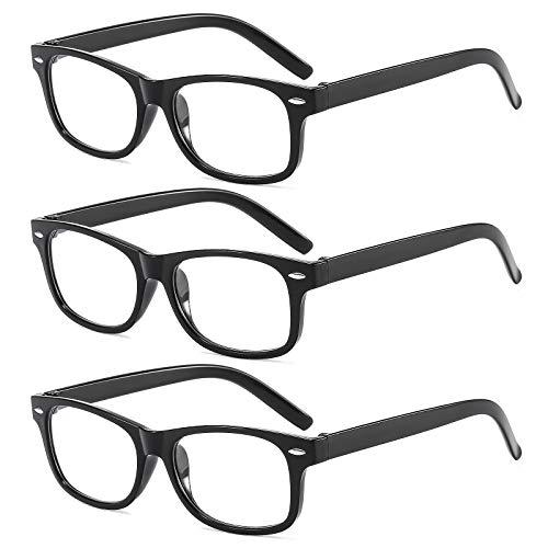 Suertree Lesebrille 3 Pack Leicht Leser Scharnier Augenoptik Brille Lesehilfe für Damen Herren 2.0x