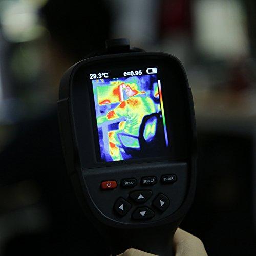 HT-18 Termocamera Portatile a Raggi Infrarossi (IR) Professionale Palmare Termometro Thermal Imager Dispositivo a Infrarossi Imaging con Risoluzione IR 0,3 Milioni Pixels