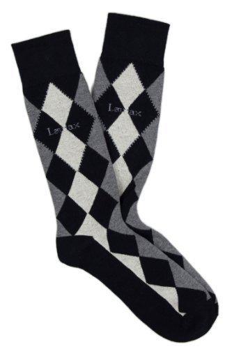Laulax - Chaussettes basses - Homme - Multicolore - Argyle Black - moyen
