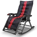 Al aire libre reclinando cero gravedad silla mecedora silla plegable cero sillas de gravedad negro sacudible playa cama sol reclinable sacudible reclinable para la playa patio jardín camping exterior