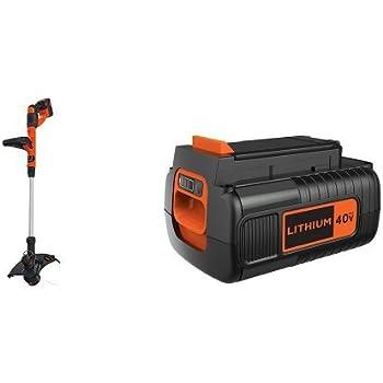 Amazon Com Black Decker Lst140c String Trimmer 40 Volt Battery Pack Garden Outdoor