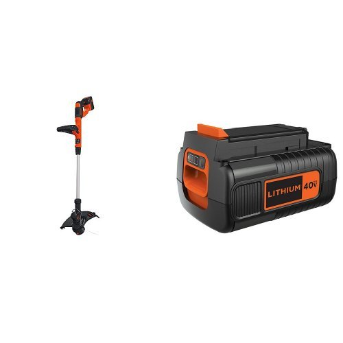 Read About BLACK+DECKER LST140C String Trimmer + 40-Volt Battery Pack