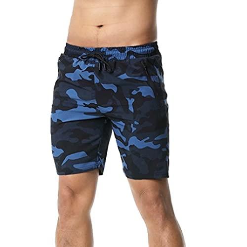 N\P Pantalones de deporte de camuflaje pantalones cortos de secado rápido para hombres corriendo fitness pantalones playa