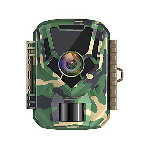 Mini Wildlife Camera 1080p 16MP Waterproof Hunting Camera with Night Vision Small Trail Camera with 120° Wide Angle Lens 2 Inch LCD Screen for Observation and Home Security
