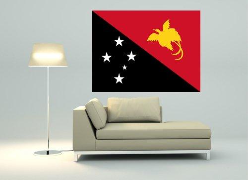 Kiwistar Wandtattoo Sticker Fahne Flagge Aufkleber Papua-Neuguinea 120 x 90cm