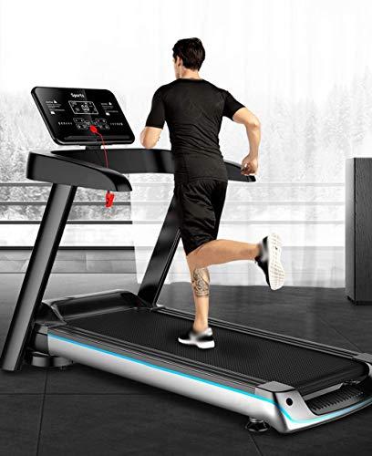 Funda de almohada Cintas de correr motorizadas plegables, motor de 2.5HP, pantalla de color HD que funciona corriendo Máquina para caminar con Bluetooth con música, Gimnasio Portátil Pequeño Pequeño E