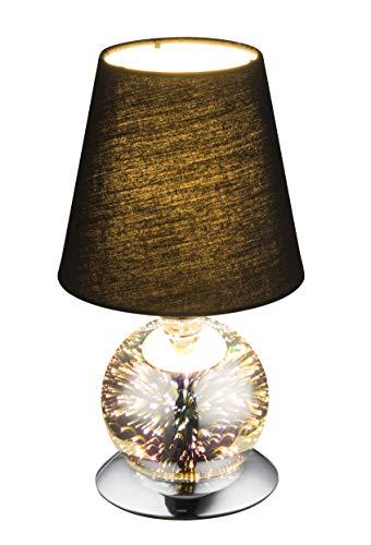 Globo 24133T Lampe de chevet effet 3D en verre Noir