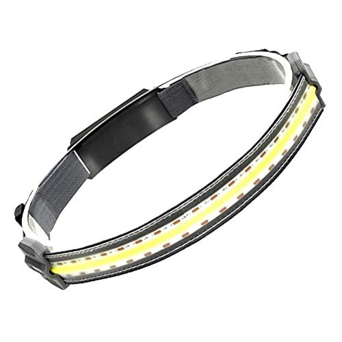COB faro 350 lúmenes ligero linterna USB recargable linterna para acampar correr senderismo