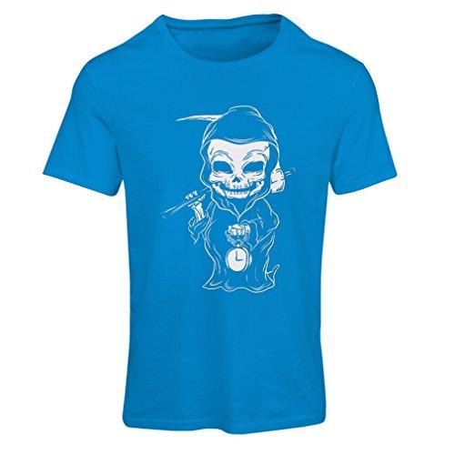 lepni.me N4395F Camiseta Mujer La Muerte (XX-Large Azul Multicolor)