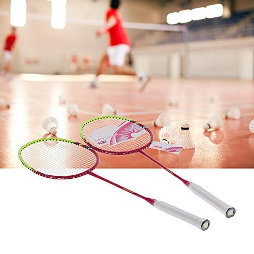 WESE Raquetas de bádminton, par de Raquetas de bádminton de Fibra de Carbono Rosa, par de 2 Raquetas para Adultos para Ejercicio Deportivo