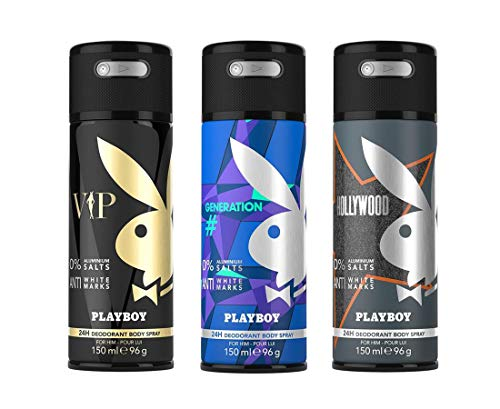Playboy Playboy Vip + Generation + Hollywood Deo Combo Set - Pack Of 3 Mens, 450 ml (Pack of 3)