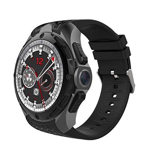 Juman Smartwatch- MTK 6580 Quad-Core 1,3 GHz Cotex-A7 CPU, wasserdicht IP68, 2 + 16 G großer Speicher, 2,0 MP, Akku mit großer Kapazität, GPS-Positionierung, Bluetooth 4.0, Schwarz- Für Android 7.0