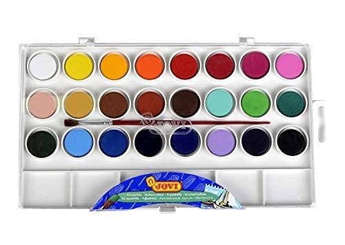 Jovi-725001 Estuche Acuarelas, Color Surtido, Unidad (Paquete de 1) (800 24)
