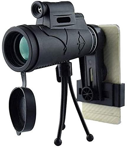 Telescopio monocular HD de Alta Potencia para Smartphone 5060 Day Low con Adaptador para Smartphone Trípode Traje para Senderismo Camping Observación de Aves