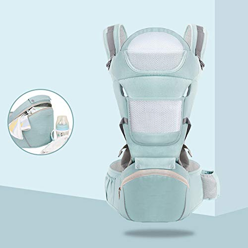 JKJ Baby Sling, Ergonomic Hip Seat, Baby Sling Wrap Newborn, with Storage Waist Stool, Removable Backplane, Independent Water Bag, for Toddler or Newborn Babies