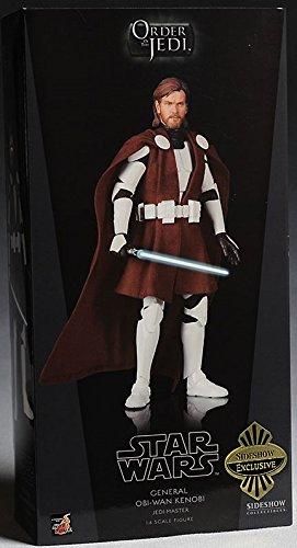 Sideshow Collectibles Order of the Jedi Deluxe 12 Inch Action Figure Clone Wars General Obi-Wan Kenobi image