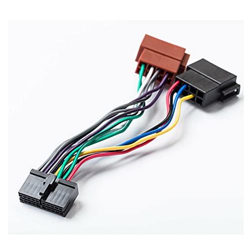 LIULIANG MeiKeL Radio de automóvil ISO Adaptador 20Pin Cable Universal DIN Connector Ajuste para AEG Coche Estéreo Prologio Autoradio Audiovox JGC, etc.