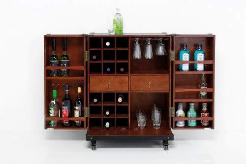 Schrankkoffer Bar Colonial Medium, Hausbar, Kofferbar rollbar, (H/B/T) 154x60x60cm