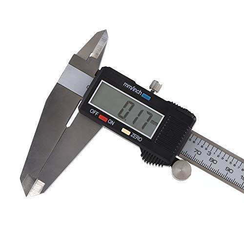 300mm Digital Messschieber Zoll/Bruchstücke / Millimeter Umwandlung 0-12 Zoll Schieblehre Edelstahl Körper mit LCD Bildschirm Selbstabsperrung