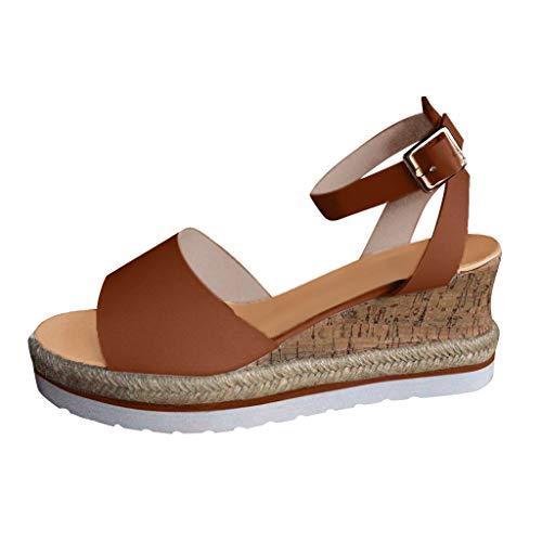 Zapatos O Sandalias Mujer Cuña De Dedo Goma Esparto con Suela Blanca Comoda Elegante Fiesta 5cm