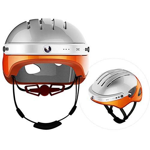 CBA BING Casque de Sport, Casque de véhicule Tout-Terrain Casque de caméra pour Casque de vélo Intelligent de vélo de Montagne, Module WiFi intégré, Casque Bluetooth