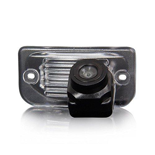 Auto Rückfahrkamera verbesserte Einparkhilfe mit 8IR Nachtsicht 170° Weitwinkel Wasserdicht Hoche Defination (schwarz) für Mercedes-Benz C W203 E W211 CLS Klasse W219 CLK W209
