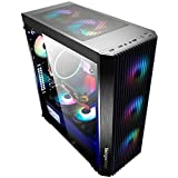 WSNBB Gaming Case, Mid-Tower SSI-EEB/E-ATX/ATX/M-ATX/ITX PC Gaming Computer Case,Fully Transparent Side Panel,USB 3.0,for Desktop PC Computer