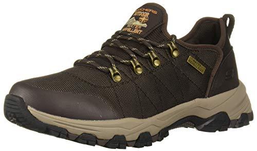Skechers Selmen-Norden Trail Oxford, Zapatos para Senderismo Hombre, marrón Chocolate, 45 EU