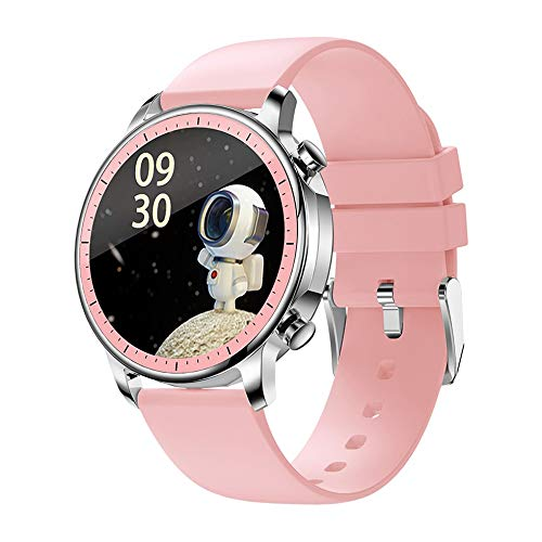 CGGA 2021New Tempere Smart Watch IP67 Impermeable Impermeable Toque Fitness Fitness Tracker Presión Arterial Mujer Smart Watch (Color : Pink)